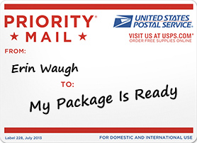 Is that pre-paid postage, or are you just happy to see me?